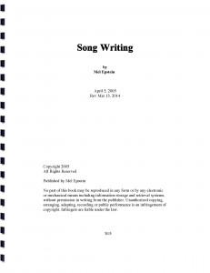 Song Writing Cov 231x300